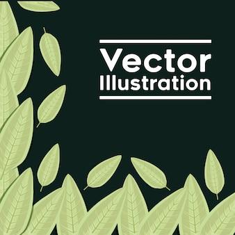 Cadre décoratif avec motif de plantes en feuilles
