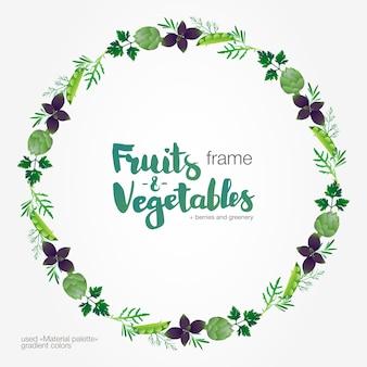 Cadre dégradé de verdure