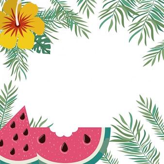 Cadre de délicieux fruits tropicaux