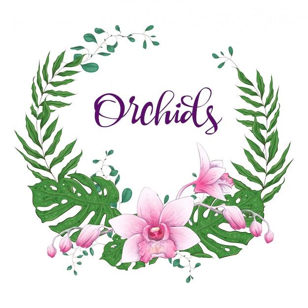 Cadre design floral