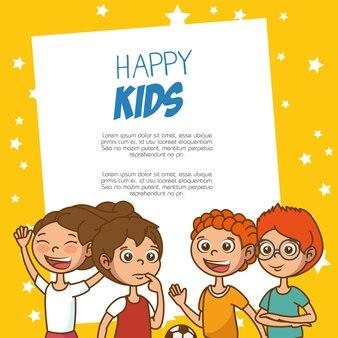 Cadre de dessin animé mignon enfants