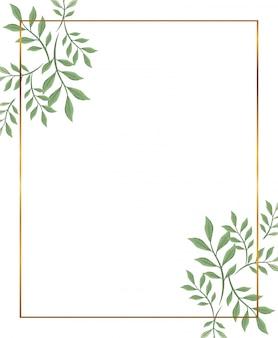 Cadre doré à décor de branches