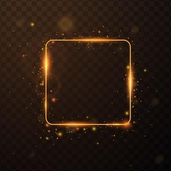 Cadre doré avec effets de lumière