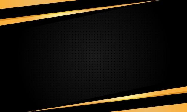 Cadre doré isolé sur fond noir