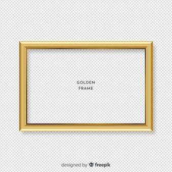 Cadre doré réaliste