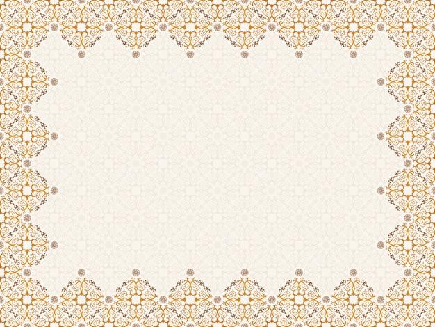 Cadre doré sans couture orientale