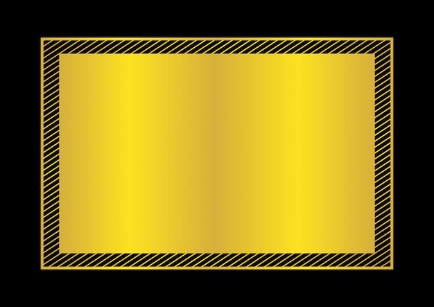 Cadre doré style plat à poser pour espace de copie, cadre vide doré