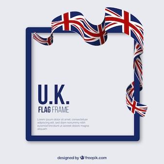 Cadre de drapeau du royaume-uni