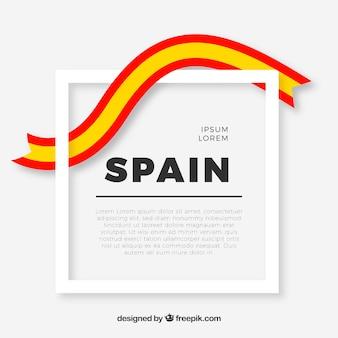Cadre avec drapeau espagnol