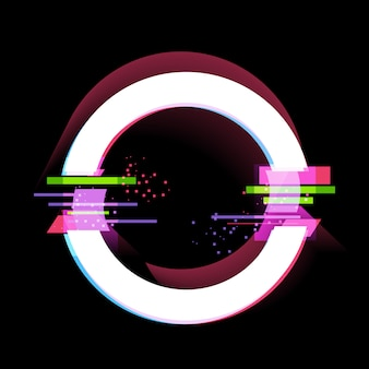 Cadre effet glitch, éléments de conception de style moderne. illustration