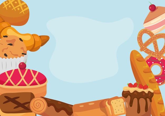 Cadre d'éléments de boulangerie