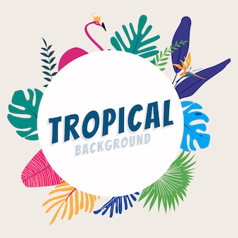 Cadre d'espace design tropical