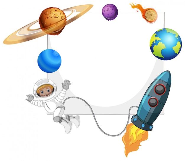 Cadre d'espace système solaire