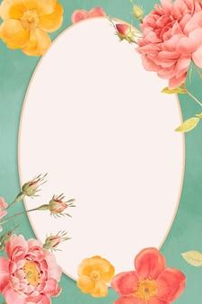 Cadre d'espace vide décoré de fleurs vives