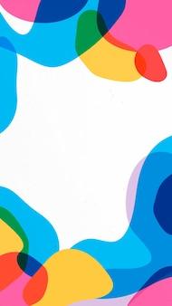 Cadre esthétique fond d'écran mobile vecteur, dessin abstrait