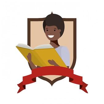 Cadre, étudiant, livre, livre