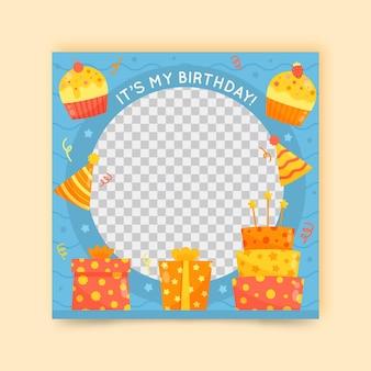 Cadre facebook anniversaire festif
