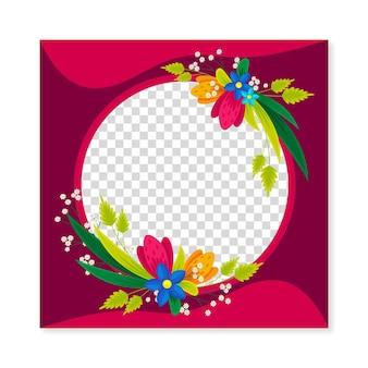 Cadre Facebook Assez Floral Vecteur gratuit