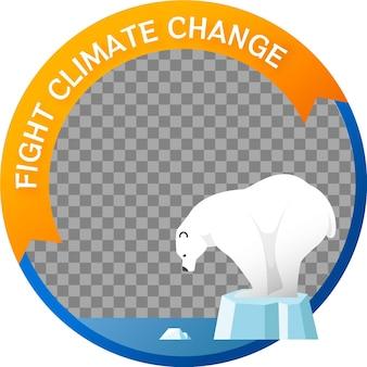 Cadre facebook de changement climatique dégradé
