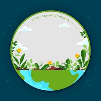 Cadre facebook sur le changement climatique