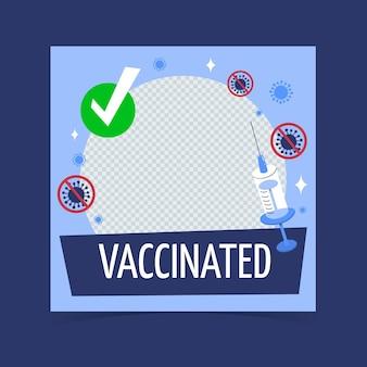 Cadre facebook de coronavirus de dessin animé