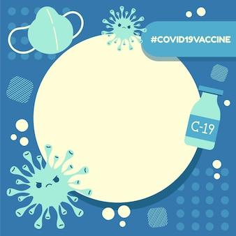 Cadre facebook de coronavirus dessiné à la main