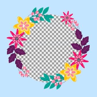Cadre facebook floral dégradé