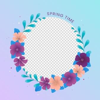 Cadre facebook floral photo de profil