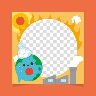 Cadre facebook plat sur le changement climatique