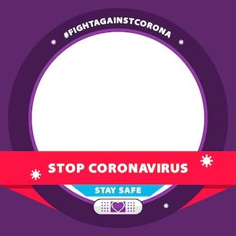 Cadre facebook plat coronavirus