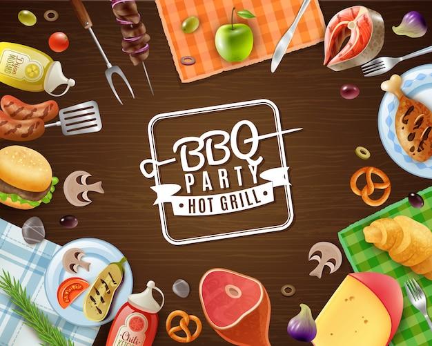 Cadre de fête barbecue