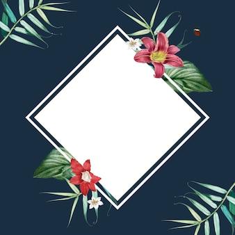 Cadre de feuillage tropical