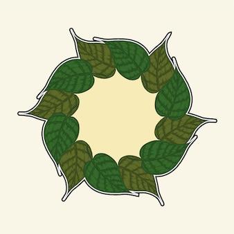 Cadre de feuille de bodhi