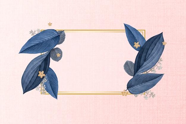 Cadre de feuille de plante élégante
