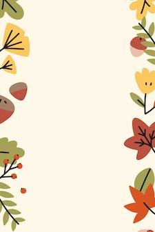 Cadre de feuilles d'automne coloré