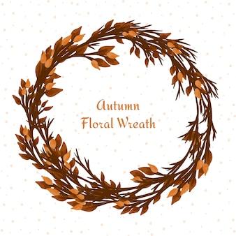 Cadre avec des feuilles d'automne