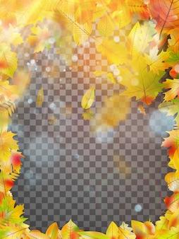 Cadre de feuilles d'automne.