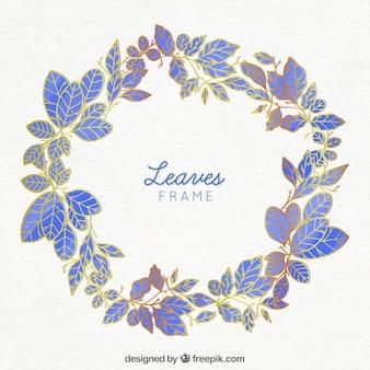Cadre de feuilles circulaires
