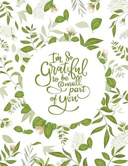 Cadre de feuilles vertes pour cartes d'invitation et graphiques.