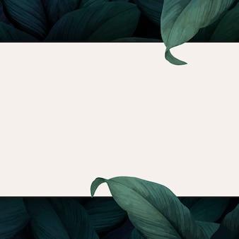 Cadre feuillu botanique