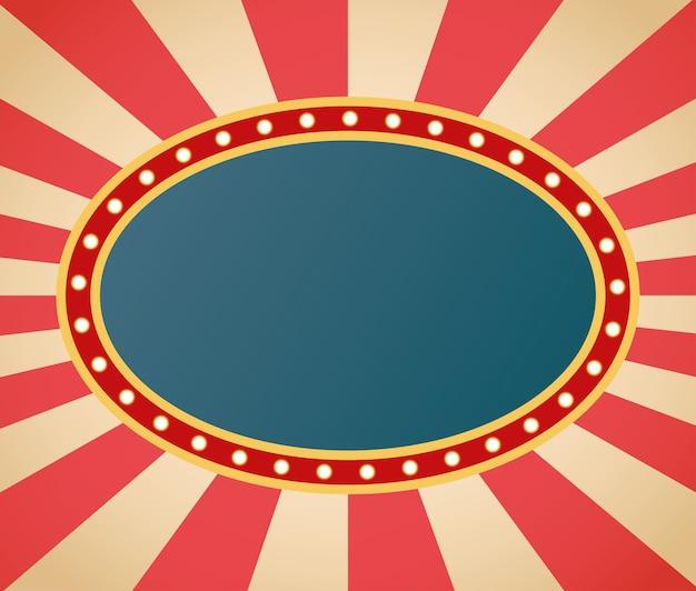 Cadre de figure ovale rétro léger en fond rayé