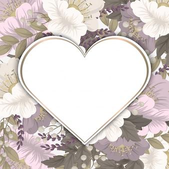 Cadre de fleur d'amour