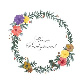 Cadre fleur aquarelle avec espace de texte