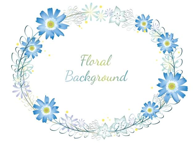 Cadre de fleur aquarelle