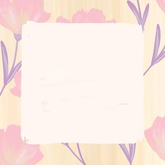 Cadre de fleur de cosmos rectangle