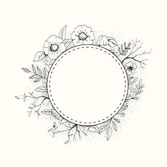 Cadre fleur logo