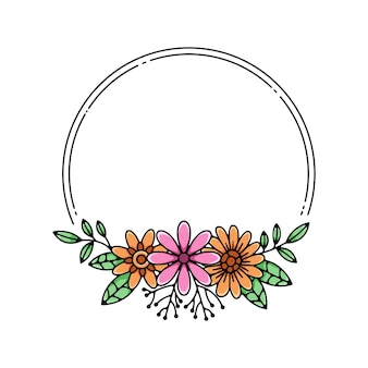 Cadre fleur monoline
