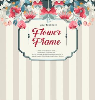 Cadre de fleur rétro