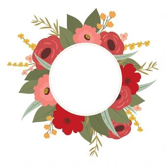 Cadre fleur romantique avec espace copie.