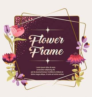 Cadre fleur romantique